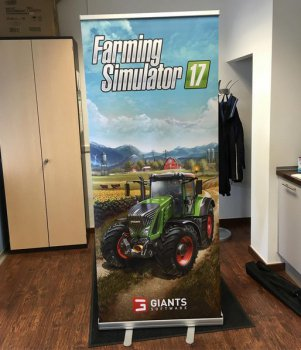 Первый баннер Farming Simulator 2017 к выставке FarmCon