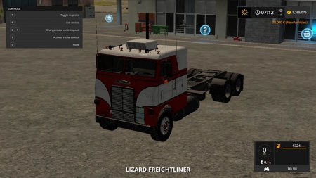 Грузовик White Freightliner cabover для Farming Simulator 2017