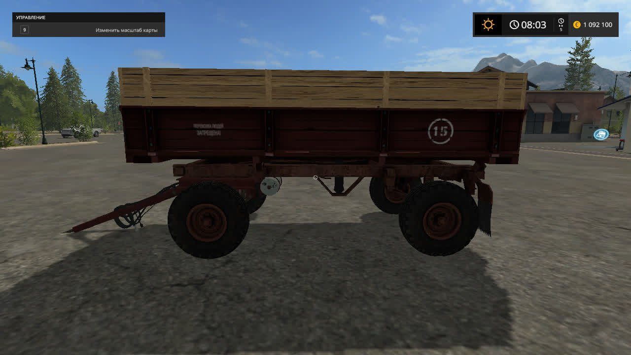 Прицеп 2 ПТС 4 для Farming Simulator 2017