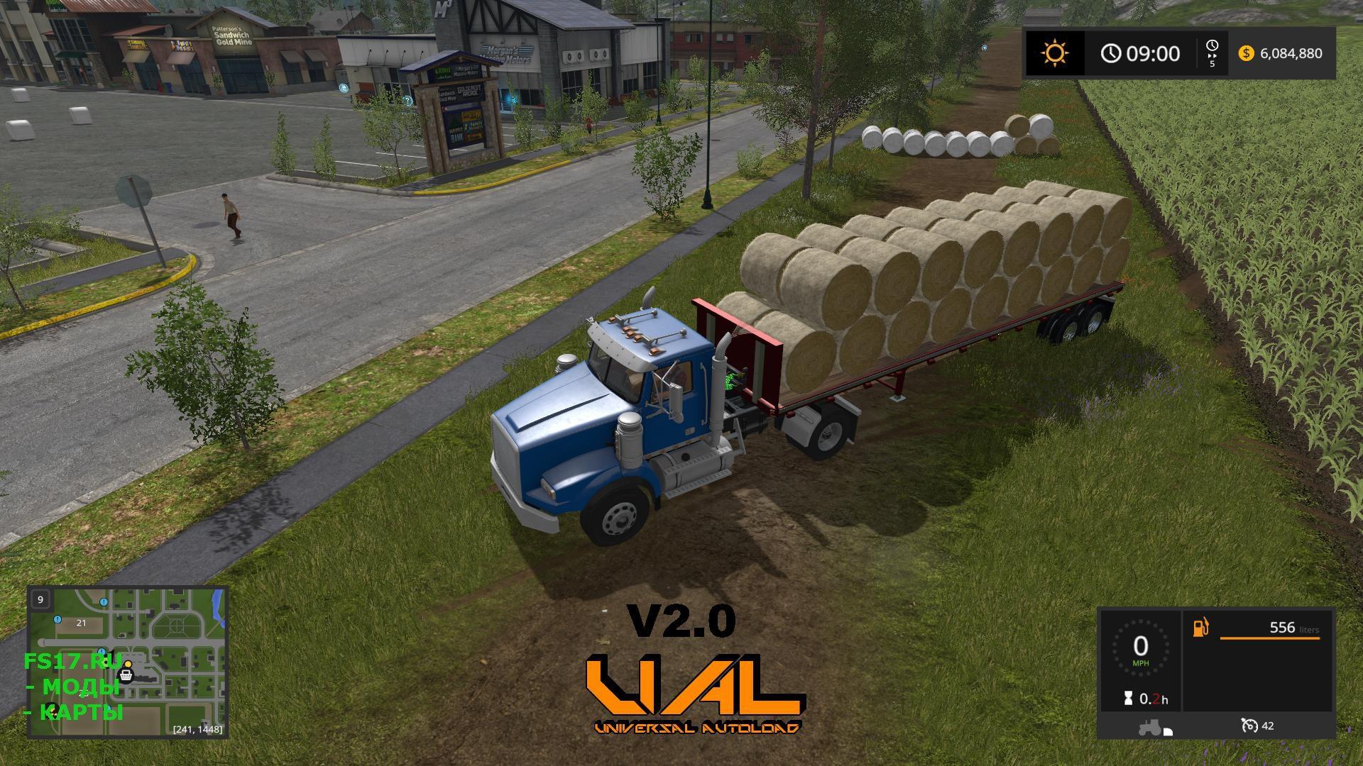 Прицеп с автозагрузкой тюков и поддонов для Farming Simulator 2017