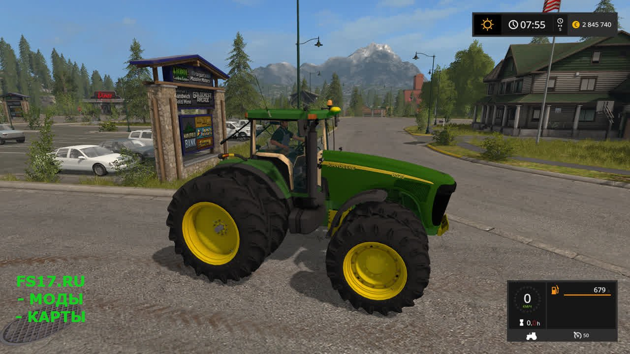 Трактор John Deere 8520/8530 для Farming Simulator 2017