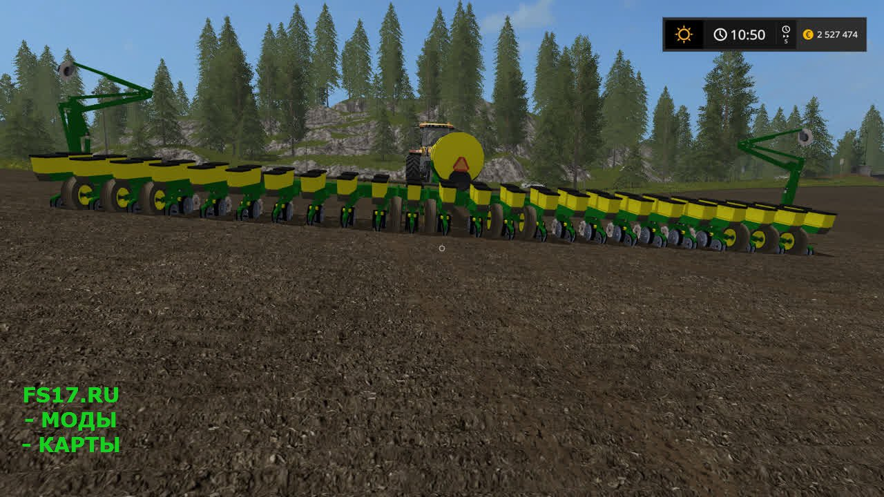 Большая сеялка John Deere для Farming Simulator 2017