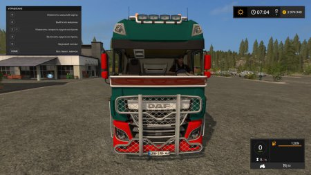 Тягач DAF XF E6 для Farming Simulator 2017