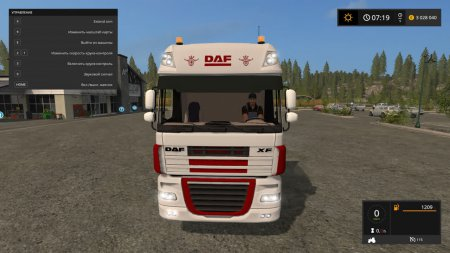 Тягач DAF XF IT RUNNER для Farming Simulator 2017