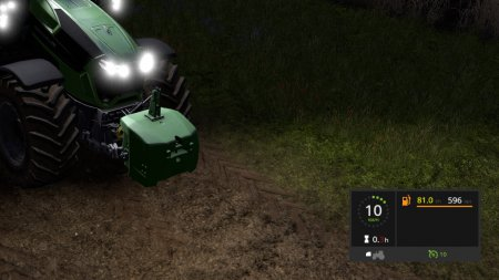 Мод Fuel Usage Display для Farming Simulator 2017