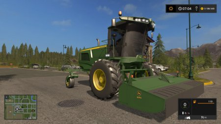 Сенокосилка John Deere W260 для Farming Simulator 2017