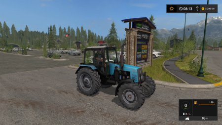 Трактор МТЗ 1221 для Farming Simulator 2017