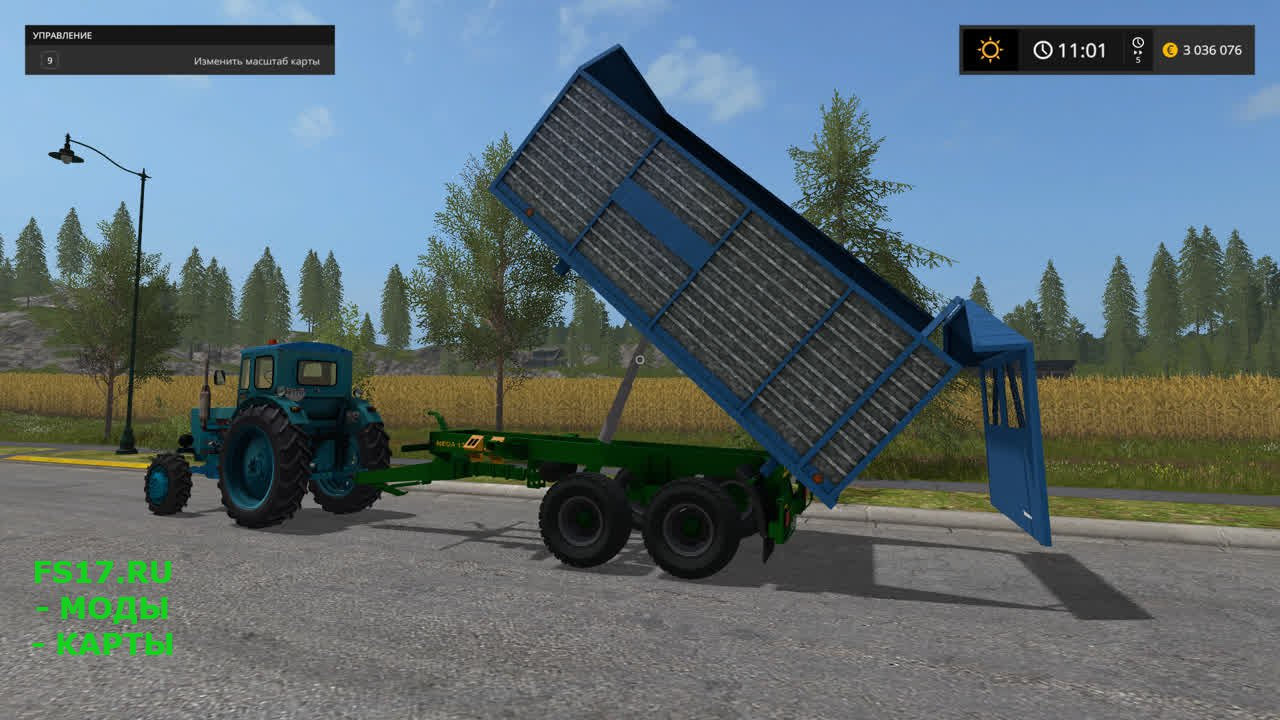 Прицеп самосвал ZDT SP27 для Farming Simulator 2017