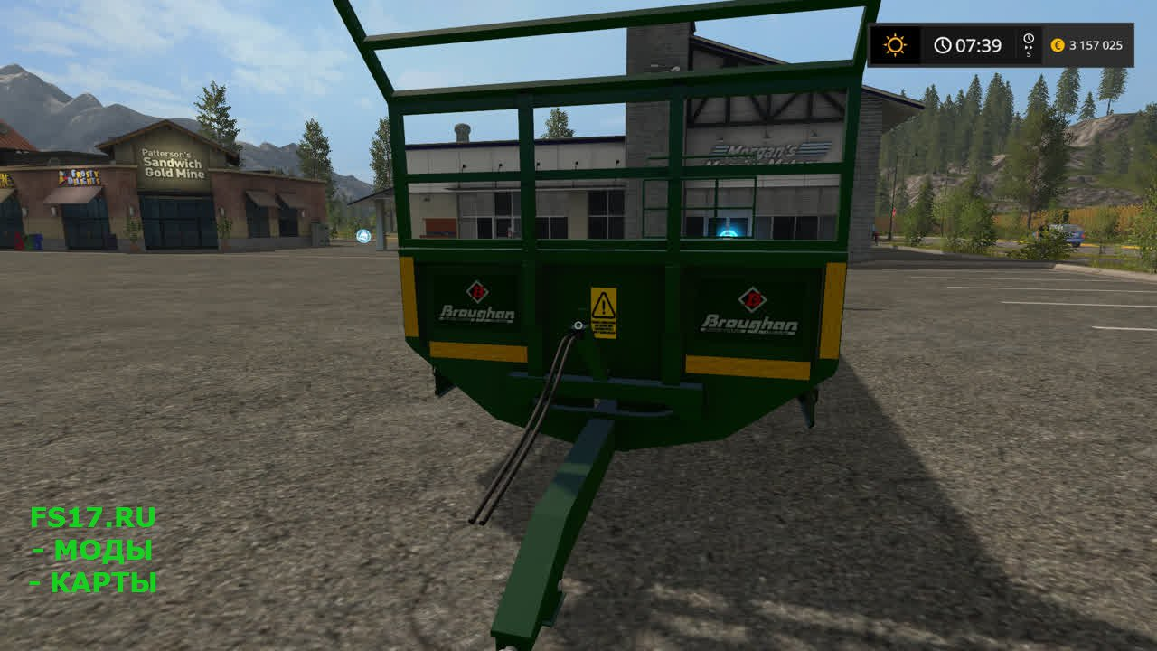Большой прицеп для перевозки тюков для Farming Simulator 2017
