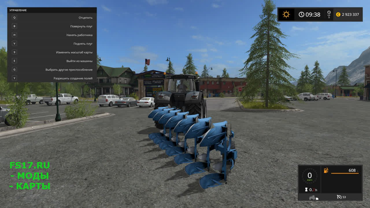 Плуг Lemken Juwel 8 для Farming Simulator 2017