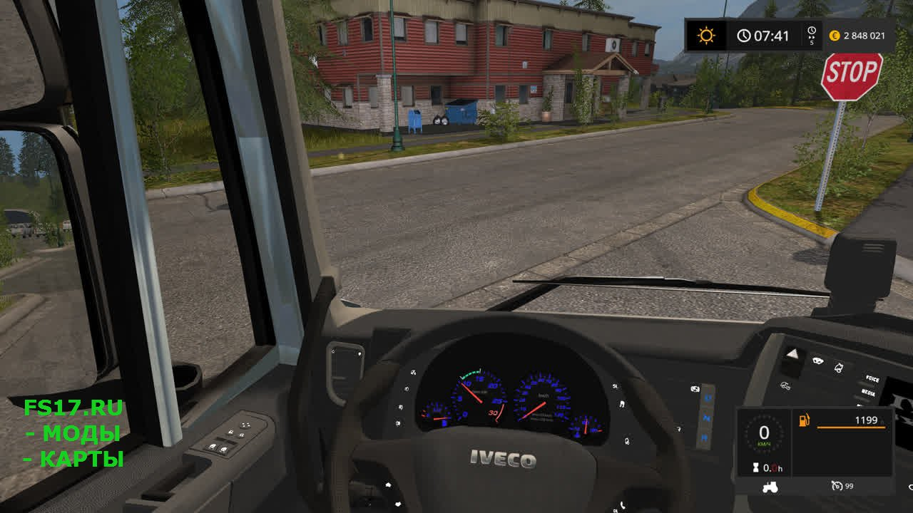 Тягач Iveco Hiway для Farming Simulator 2017