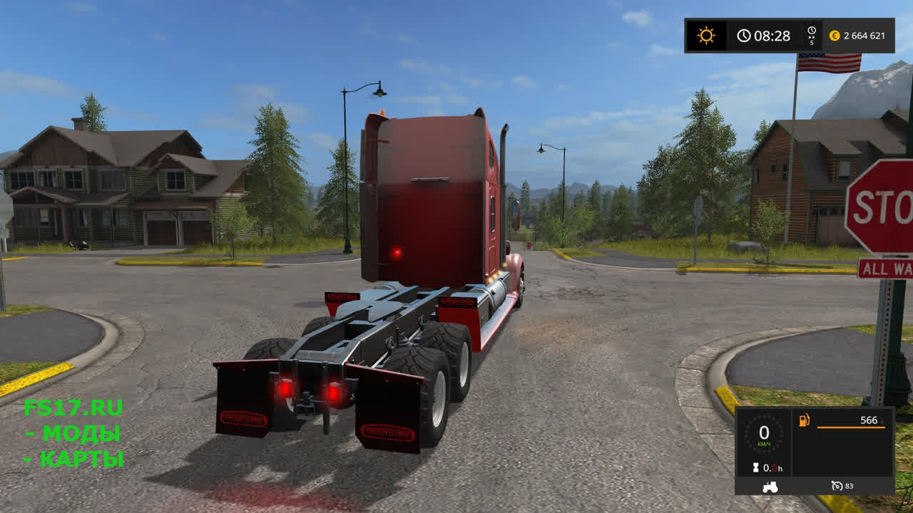 Тягач Freightliner Coronado для Farming Simulator 2017
