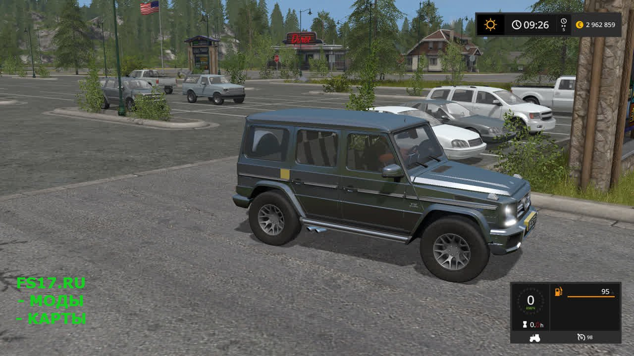 Mercedes-Benz G65 (гелендваген) для Farming Simulator 2017
