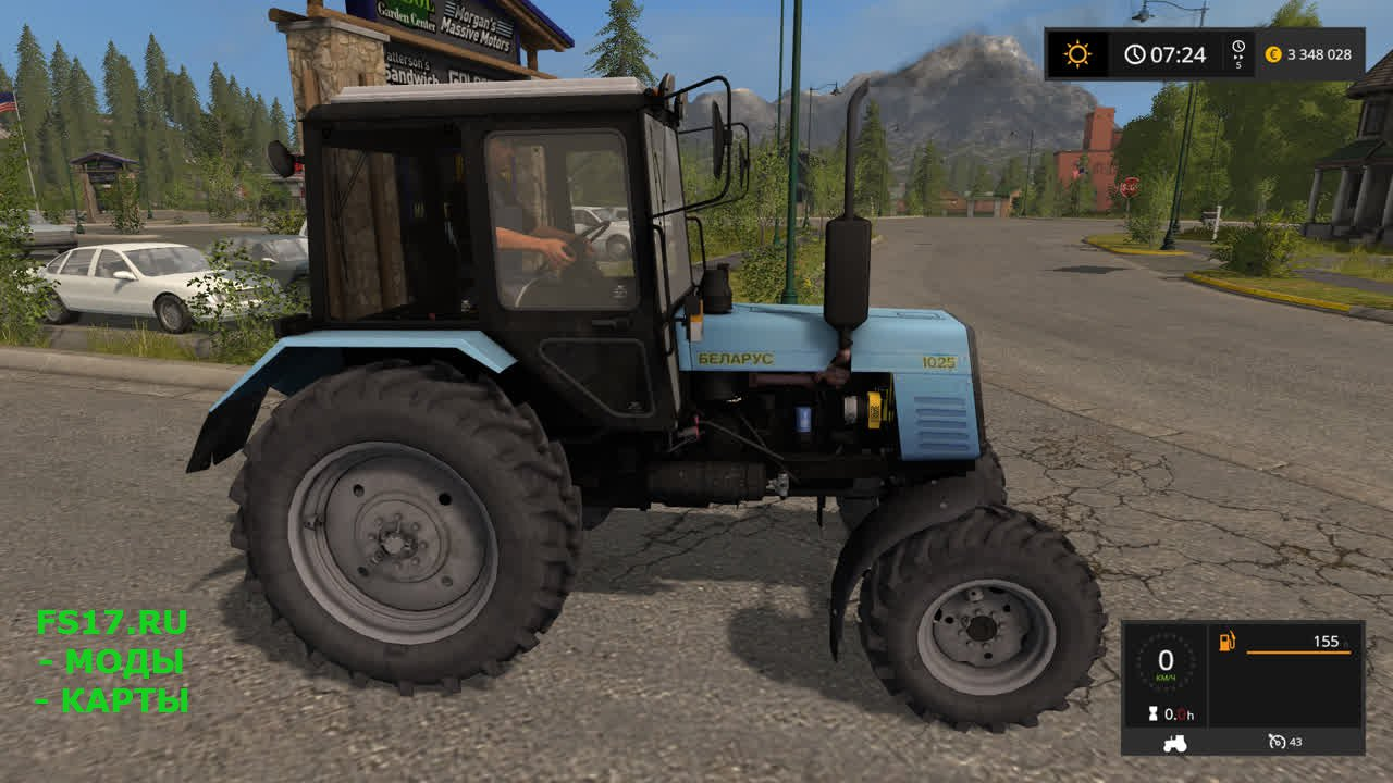 Трактор МТЗ 1025 для Farming Simulator 2017