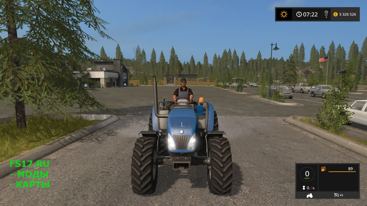 Трактор New Holland T4 75 Garden Edition для Farming Simulator 2017