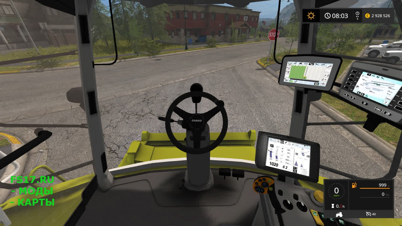Гусеничный комбайн Class Lexion 780 для Farming Simulator 2017