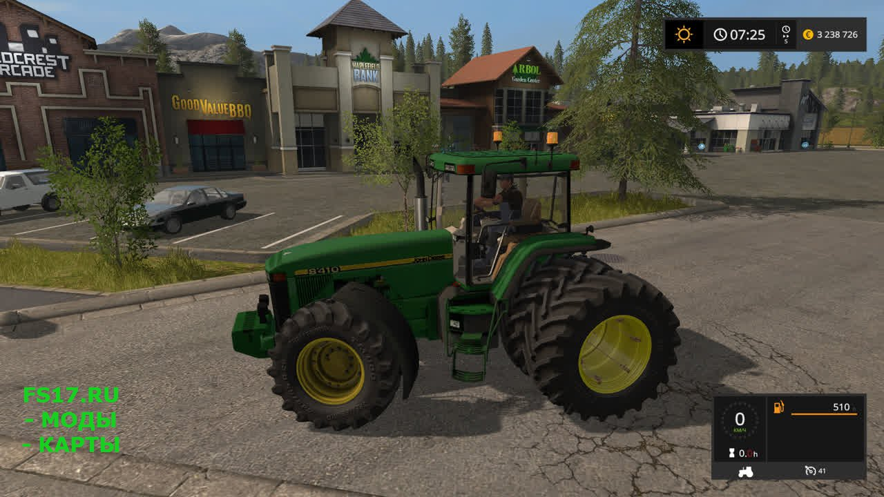 Трактор John Deere 8400/8410 для Farming Simulator 2017