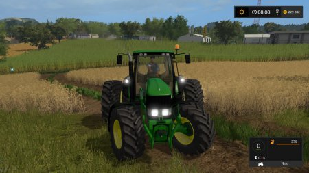 Трактор John Deere 7030 для Farming Simulator 2017