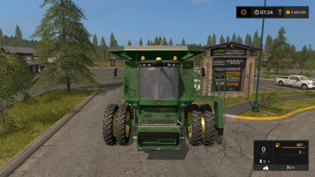 Комбайн John Deere 9770 для Farming Simulator 2017