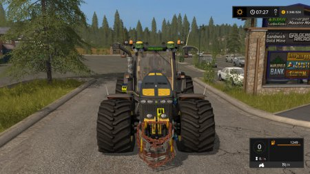 Трактор John Deere 8530 Black Shadow для Farming Simulator 2017