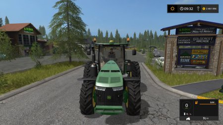 Трактор Джон Дир 8370 для Farming Simulator 2017