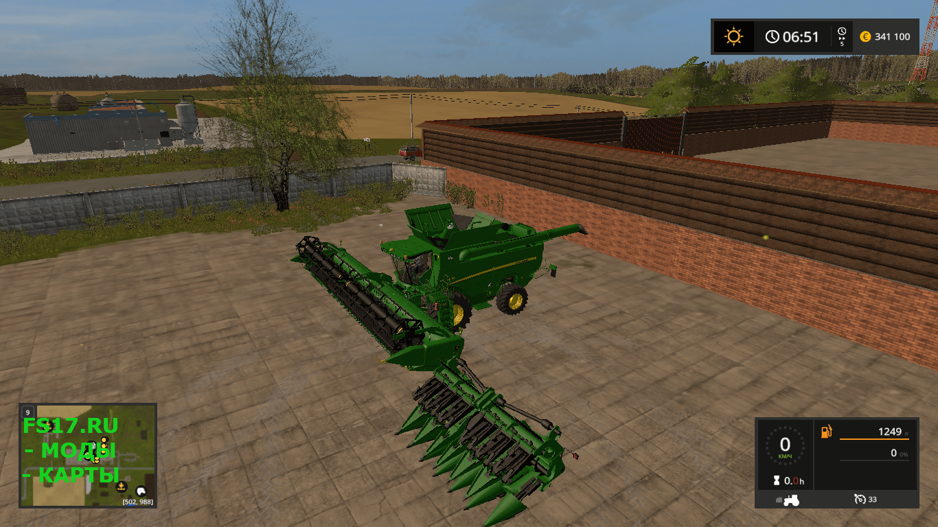 Комбайн John Deere S690i v 1.0 для Farming Simulator 2017
