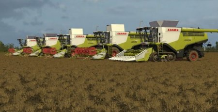 ПАК комбайнов Claas Lexion 700 STAGE IV Pack V 1.2 для FARMING SIMULATOR 2017