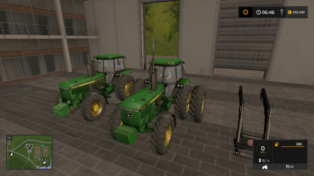 Трактор John Deere 4755 v2.0 для Farming Simulator 2017