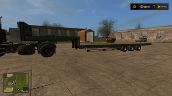 Трал Flatbed low loader v 1.0.0.0 для Farming Simulator 17