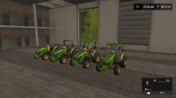 Трактор John Deere Serie 5M v 3.0 для Farming Simulator 2017