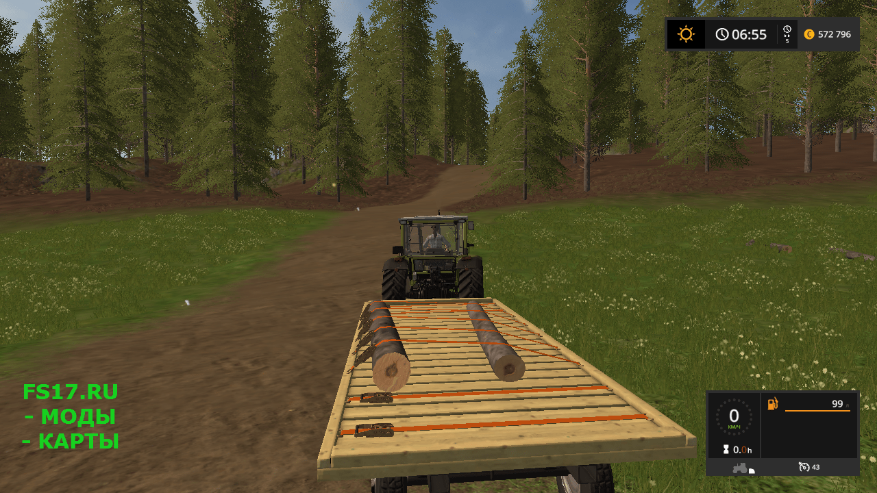 Прицеп FLATBED TRAILER V1.0 для Farming Simulator 2017