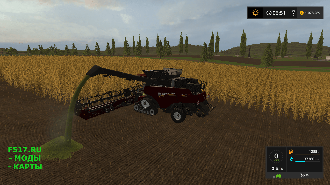 Комбайн NEW HOLLAND CHAFF PACK V1.0 для Farming Simulator 2017