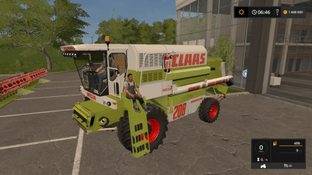 Комбайн CLAAS MEGA 208 V1.0 для Farming Simulator 2017