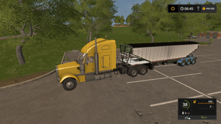 Полуприцеп Doepker Grain Trailer для Farming Simulator 2017