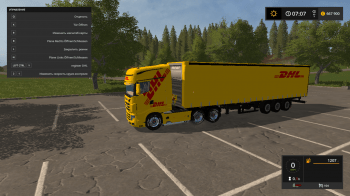 Пак грузовик SCANIA R700 DHL и полуприцеп DHL SEMITRAILERS для Farming Simulator 2017