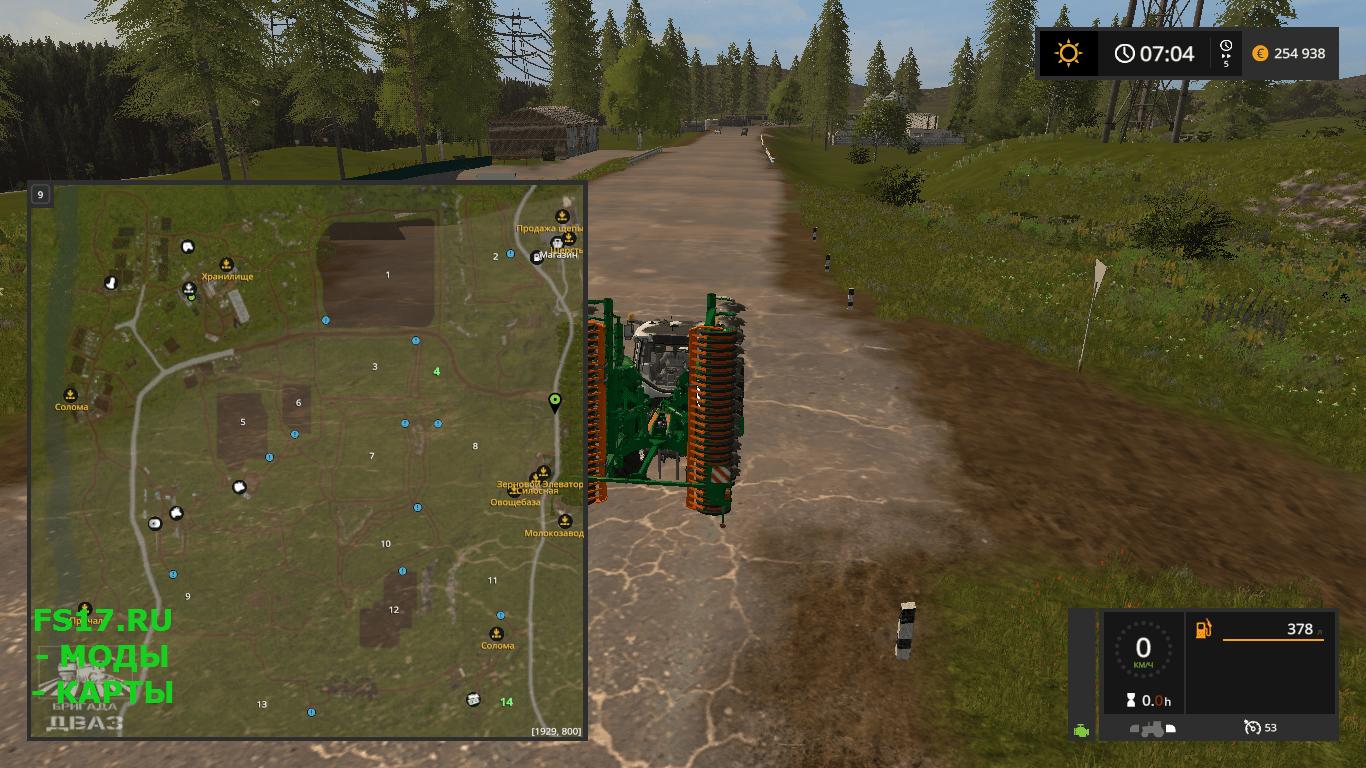 Как сделать карту для farming simulator 2017 655