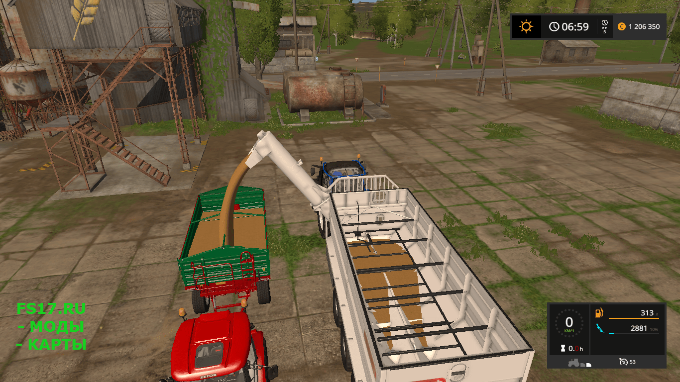 Модуль для прицепа с крюковым захватом ITR DOCK CONTAINER V1.0 для Farming Simulator 2017