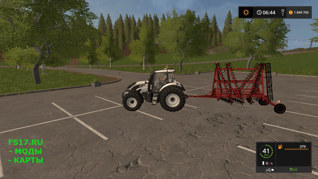 Культиватор RABA 8.4 V1.0 для Farming Simulator 2017