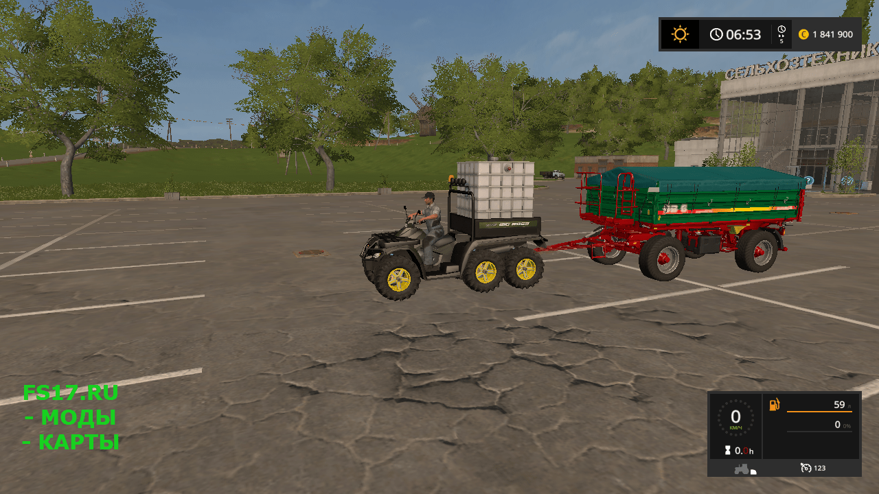 Квадроцикл Quad POLARIS 6x6 v 1.0 для Farming Simulator 2017