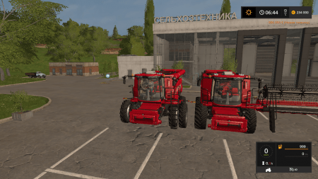 Комбайн CASE IH230 AXIAL FLOW 9230 COMBINE PACK V1.3 для Farming Simulator 2017