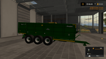 Прицеп BROUGHAN 22F GRAIN TRAILER V1.0 для Farming Simulator 2017