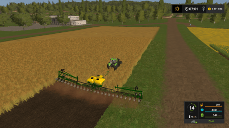Сеялка JOHN DEERE DB60 V1.0 для Farming Simulator 2017