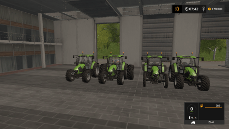 Трактор Deutz Fahr 5110 TTV v 1.1 для Farming Simulator 2017