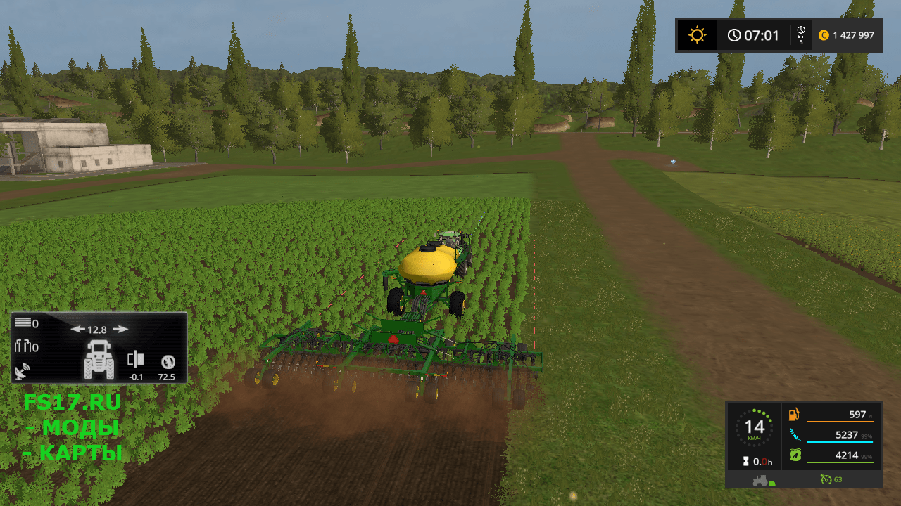 Сеялка JOHN DEERE 1890-1910 V1.0 для Farming Simulator 2017