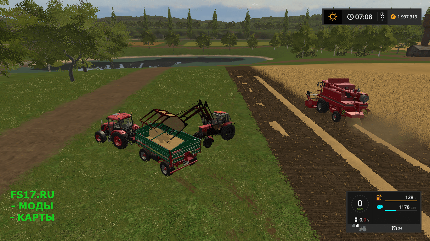 Стогомет МТЗ 82 для Farming Simulator 2017 » Farming.