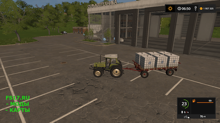 Прицеп Krone Emsland bale v 1.0.0.0 для Farming Simulator 2017