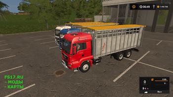 Пак для животных Fliegl Animal Transport Pack v1.0 для Farming Simulator 2017