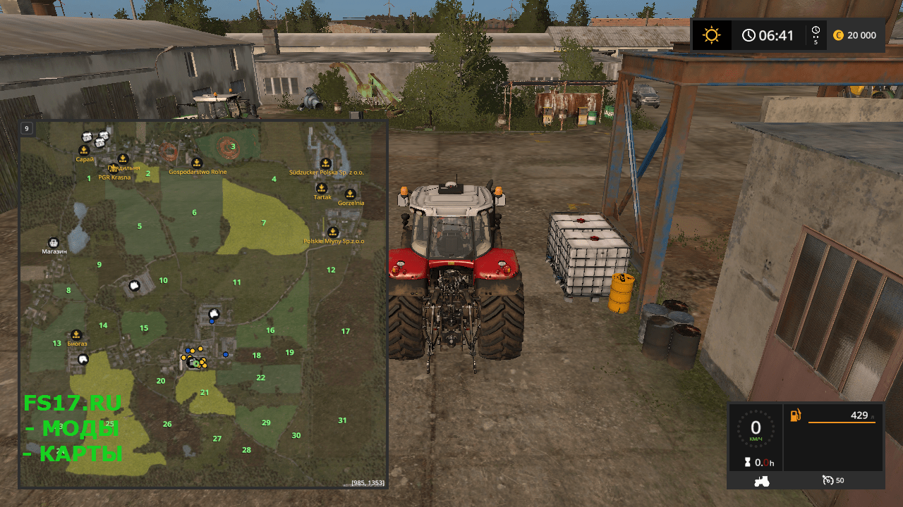 Карта PGR BRUZDA. v 2.0.2.0 для Farming Simulator 2017