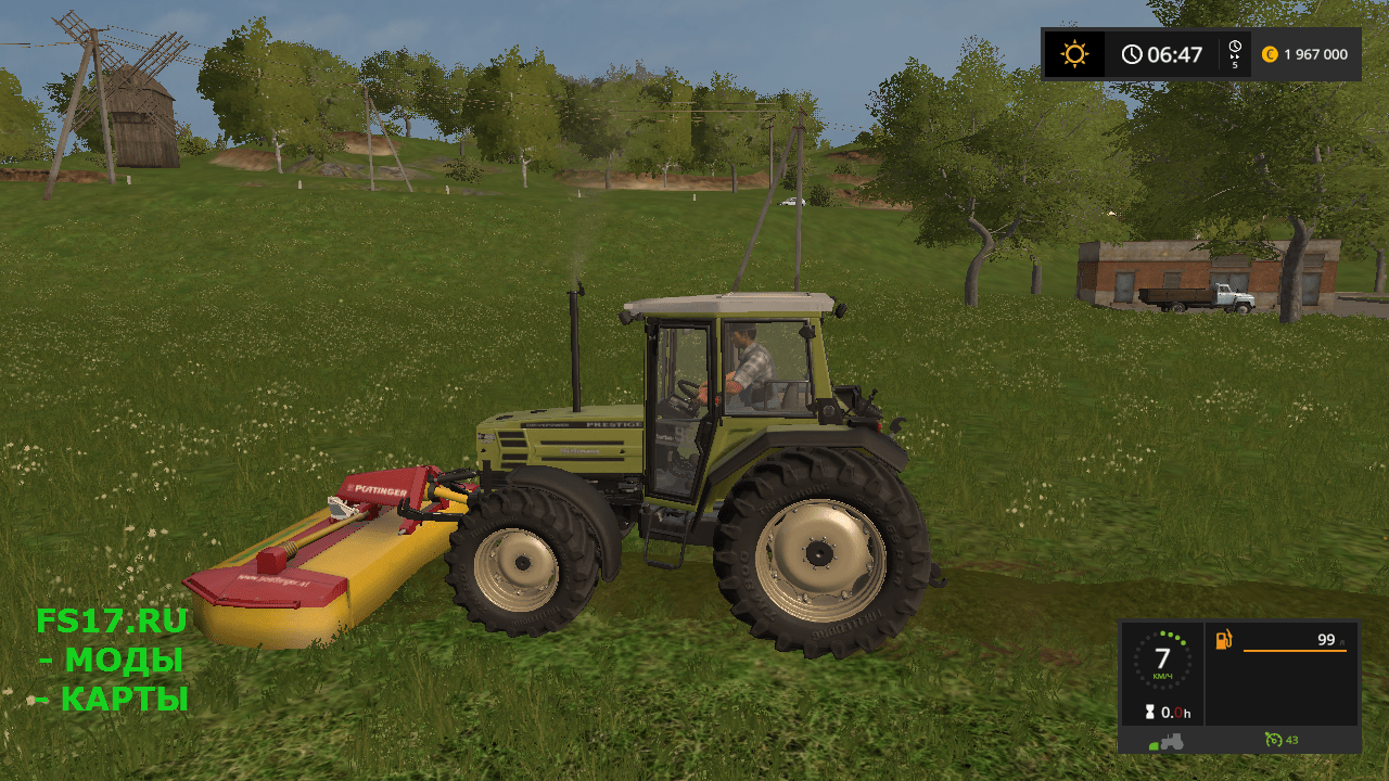 Косилка POTTINGER NOVACAT 306F V1.1 для Farming Simulator 2017