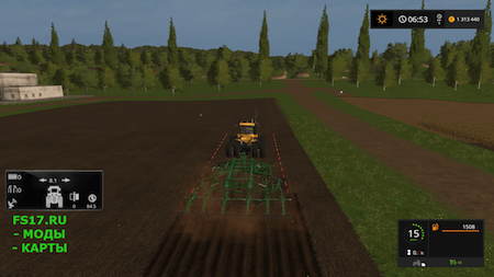 Плуг JOHN DEERE 2730 для Farming Simulator 2017